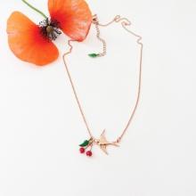 Bijoux Or Rose Les Cerises de Lucie